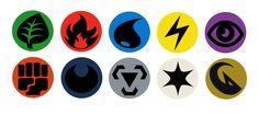Button Designs - Pokemon TCG Energy Symbols by ~bagleopard on deviantART