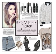 """""""#16 Winter Style: Bomber Jackets"""" by hafsahshead ❤ liked on Polyvore featuring La Femme, MANGO, Alexander Wang, BUwood, Bobbi Brown Cosmetics, vintage, women's clothing, women, female and woman"""