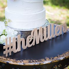 This is one of my favorites on Z Create Design: Personalized Hashtag Sign for Wedding or Party