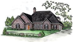 4 Bedrooms, 3.5 Baths home design house plan with 2 Bedrooms Down  2 Bedrooms Up  Covered Front & Rear Porch  Luxurious Master Suite  Kitchen, Den & Breakfast  Open Plan  Large Walk-in Closets  Stately Brick Exterior  Ideal for Narrow Lot!    Living Area: 2,694 sq. ft.  First Floor: 2053 sq. ft.  Second Floor: 641 sq. ft.  Total Area: 3,620 sq. ft.