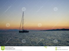 Sailboat cruising on the Greek seas at sunset, with islands in background  greek,sailboat,sailing,sunset,adventure,bay,beach,blue,boat,boats,calm,coast,coastline,color,colorful,dawn,dramatic,dusk,europe,evening