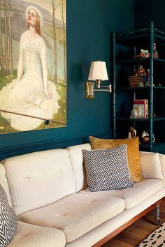 Apartment Therapy Small Spaces Living Room: No-Fail Design Tricks: How To Make Any Room Feel M. Room Paint Colors, Paint Colors For Living Room, Bedroom Colors, Teal Rooms, Teal Walls, Painting Wood Trim, Trendy Bedroom, Decoration, Home And Living