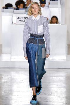 Pyer Moss Spring 2017 Ready-to-Wear Collection Photos - Vogue  no centre seam???