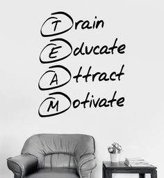 Vinyl Wall Decal Office Motivation Quote Team Stickers Mural (ig3659)