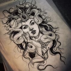 by Sam Smith Tattoo --> instagram @scragpie  Revisiting my favourite gorgon