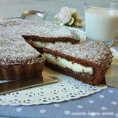 La crostata al cacao con ricotta e nutella è un dolce golosissimo , realizzato con base pasta frolla al cacao e ripieno di ricotta fresca e nutella.