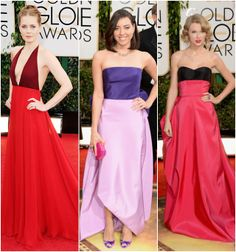 Inspiration from the 2014 Golden Globes Red Carpet