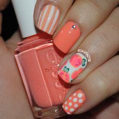 Floral nails @ sasha2750