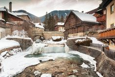 The village of Mauterndorf, Austria Arch Bridge, Over The River, Old Stone, Austria, Netherlands, Old Things, Poster, Cabin, Mansions