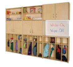 Preschool wall storage system