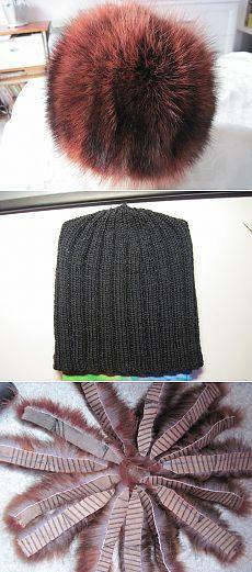 Меховая шапка (на трикотажной основе).