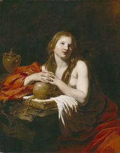 "Nicolas Régnier  ""The Repentant Magdalene "" c. 1625 (The Detroit Institute of Arts)"