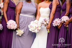 Bridesmaids Bouquets / Whitby Castle / George Street Photography