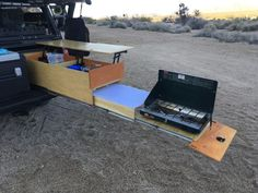 Click this image to show the full-size version. Truck Bed Drawers, Truck Bed Storage, Car Camper, Camper Trailers, Truck Bed Camping, Truck Topper Camping, Camping Hammock, Kayak Camping, Astuces Camping-car