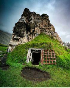 Viking tunnel in Höfn, Iceland