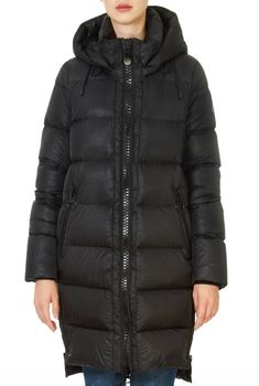 This is the 'Franca' Black Puffer Coat With Detachable Hood by stunning brand Creenstone. SHOP NOW! Long Black Puffer Coat, Winter Coats Women, Winter Jackets, Blue Coats, Midnight Blue, Shop Now, Pockets, Zipper, Shopping