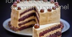 Un desert elegant in care combinatia perfecta de blat pufos cu gust intens de ciocolata, imbracat intr-o crema caramel delicioasa, i... Creme Caramel, My Birthday Cake, Tiramisu, Waffles, Deserts, Food And Drink, Breakfast, Ethnic Recipes, Sweet
