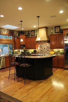 Kitchen Decor~ above cabinets