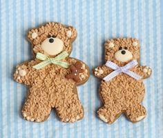 Adorable teddy bear cookies