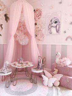 Girls Room Design, Room Design Bedroom, Girl Bedroom Designs, Bedroom Ideas, Little Girl Bedrooms, Girls Bedroom Pink, Pastel Girls Room, Girl Rooms, Toddler Rooms