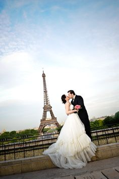 Elope to Paris! Wedding Gown by Pronovias ~ Photography by wisnerphoto.com