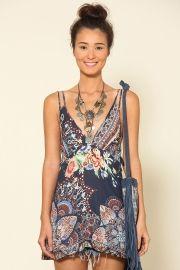 túnica babado costas floral