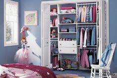 Small Closet or Kids room organizational system #contemporaryclosets #nj