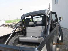 rear facing seat in 84 scrambler Jeep Scrambler, Golf Carts, Camping Gear, Jeeps, Roads, Baby Strollers, Cherry, Pie, Trucks