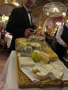One of my favorite restaurants in Paris - The Cheese Cart at Le Train Bleu in Paris
