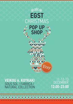 Etsy Greek Street Team Christmas Pop Up Shop Christmas Pops, Christmas 2015, Team Events, Beautiful Posters, Craft Party, Xmas Decorations, Athens, Pop Up, Greek