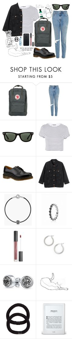 """Icon"" by megabue ❤ liked on Polyvore featuring Fjällräven, Topshop, Ray-Ban, Dr. Martens, Monki, Pandora, Huda Beauty, Halogen, Bling Jewelry and The Body Shop"
