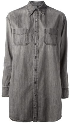 $301, Grey Denim Shirt: J Brand Sphinx Shirt. Sold by farfetch.com. Click for more info: http://lookastic.com/women/shop_items/5563/redirect