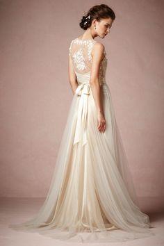 BHLDN Onyx Wedding Dress on OnceWed.com- Originally: $1800, on sale for $1500 (17% off)! #weddingdress http://www.oncewed.com/used-wedding-dresses/onyx/