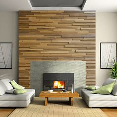 Check out these 3D wood wall panels from Oshkosh Designs shown in hickory. This product is proudly crafted in Winneconne, WI and available for custom orders.