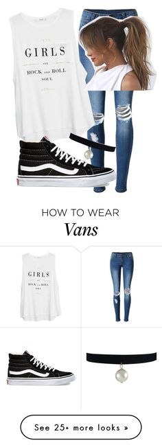 """girls rule"" by runnergirl-ab on Polyvore featuring WithChic, MANGO, Vans and Champion"