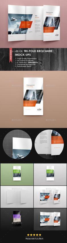 Christmas Frame Mockup Mockup - gate fold brochure mockup