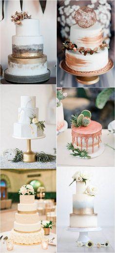 trending metallic wedding cakes #wedding #weddingideas #weddingcake #WeddingCakes