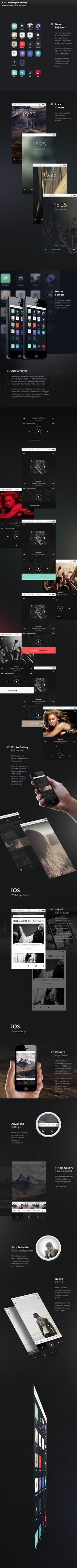 iOS 7 Redesign Concept by Alexey Masalov