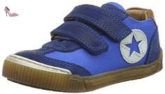 Bisgaard Schnürschuhe, Sneakers Basses Mixte enfant - Bleu - Blau (601 Blue), 35 EU