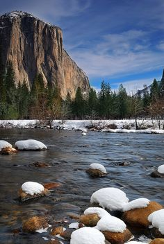 El Capitan in Winter, Yosemite National Park, California, United States.