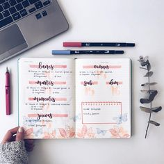 How To Start A Bullet Journal: 21 Gorgeous BUJO Ideas + Tools To Get Organized Bullet Journal Ideas: 21 Gorgeous Layouts To Inspire You To Get Organized Bullet Journal Wishlist, Bullet Journal How To Start A, Bullet Journal Inspo, Bullet Journal Spread, Bullet Journal Layout, My Journal, Journal Pages, Study Journal, Journal Inspiration