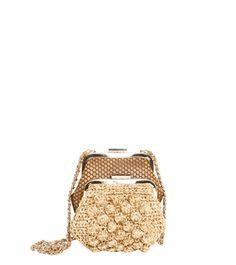 #MMissoni | MINI GOLD FAUX-RAFFIA LUREX BAG | Winter 2014-2015 Collection