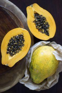 Vegan Ice Cream with Papaya and Coconut Milk