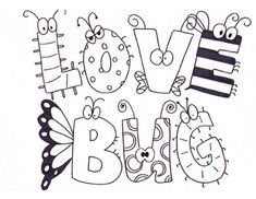 Valentineu0027s Day Coloring Page | Love Bug