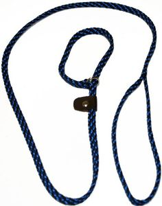 Lone Wolf Slip Lead with Leash and Collar for Pets, 1/4 by 6-Feet, Black/Blue Spiral ** Click image to review more details. (This is an Amazon affiliate link)