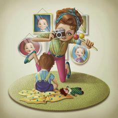 Иллюстрации: материнской любви