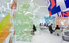 acryl panels covered with graphic design