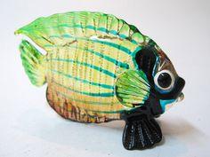 Underwater Handicraft MINIATURE HAND BLOWN GLASS Fish FIGURINE Collection # 89