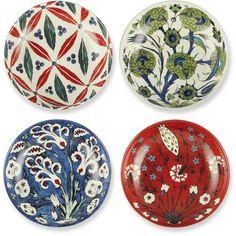 Iznik Condiment Bowls, Set of 4