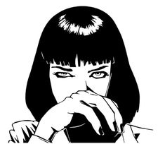 #nena Gothic Drawings, Dark Drawings, Pencil Art Drawings, Art Sketches, Black And White Illustration, Japanese Tattoo Art, Stencil Art, Pulp Fiction, Aesthetic Art
